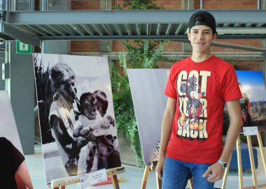 David Aviña ganador del segundo lugar del concurso