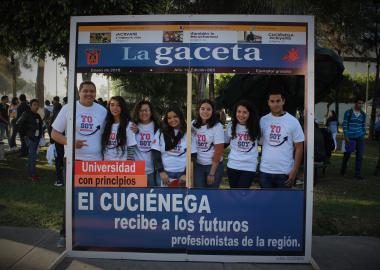 Estudiantes de nuevo ingreso en La Gaceta