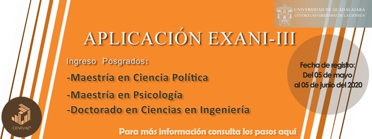 Aplicación EXANI-III