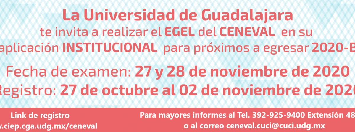 Aplicación CENEVAL 27 y 28 de Noviembre 2020