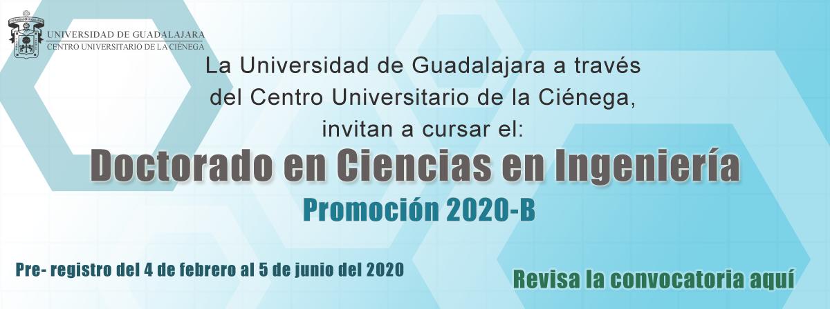 Convocatoria Doctorado en Ciencias Convocatoria 2020B