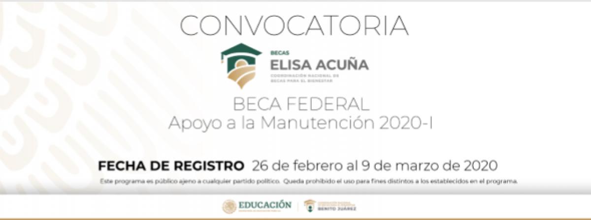 Información sobre BECAS ELISA ACUÑA-BECA MANUTENCIÓN 2020-I
