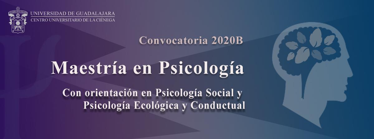 Convocatoria Maestría en Psicología 2020B