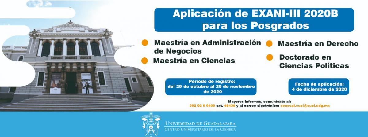 Aplicación EXANI-III para Posgrados